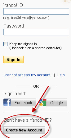 How to set up an email account in yahoo