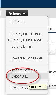 Outlook express address book export