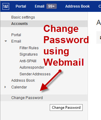 1and1-change-email-password