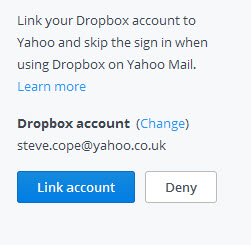 link-yahoo-dropbox-accounts