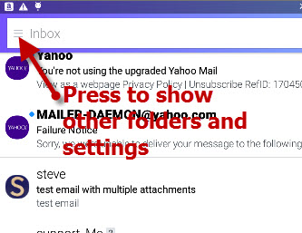 Yahoo-mobile-settings