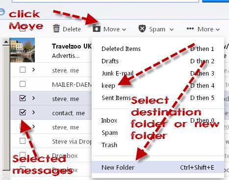 ahoo-move-messages-folder