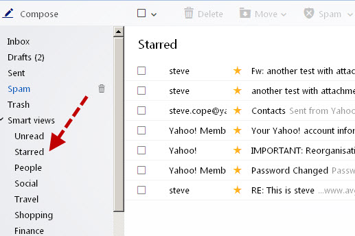 How to Organise Email in Yahoo Mail