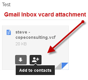 gmail-received vcard attachment
