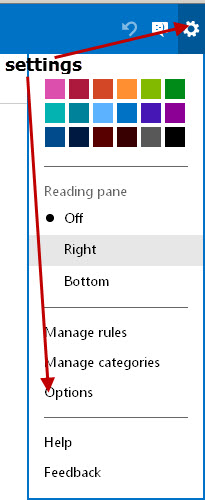 outlook.com-settings