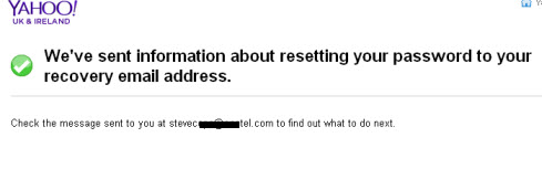 How to Reset Your Yahoo Password
