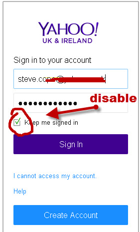 create yahoo account sign in